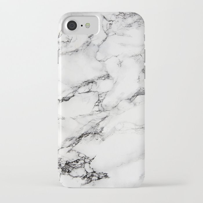 greyish white marble iphone case