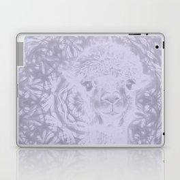 Ghostly alpaca and Lilac-gray mandala Laptop & iPad Skin