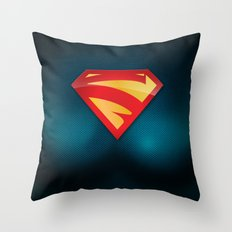 SUPERGIRL SUIT Throw Pillow