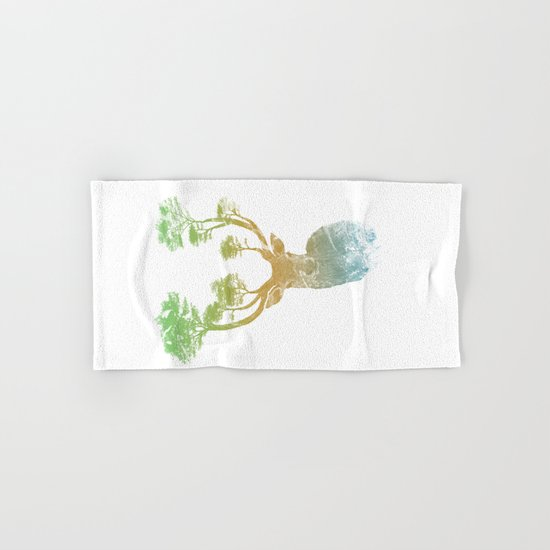Summer Stag Hand & Bath Towel
