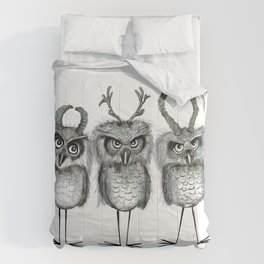 Owls with Horns Comforters