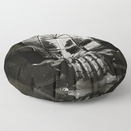 Room Skull B&W Floor Pillow