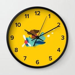 Airplane Dog Wall Clock