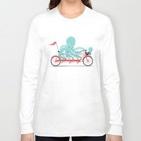 bike Long Sleeve T-shirts featuring My Red Bike by Jay Fleck