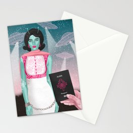 The Alien's are Here Stationery Cards