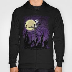 Halloween Purple Sky with jack skellington iPhone 4 4s 5 5c, ipod, ipad, pillow case tshirt and mugs Hoody