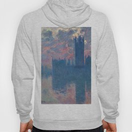 """Claude Monet """"The Houses of Parliament, at sunset"""" Hoody"""