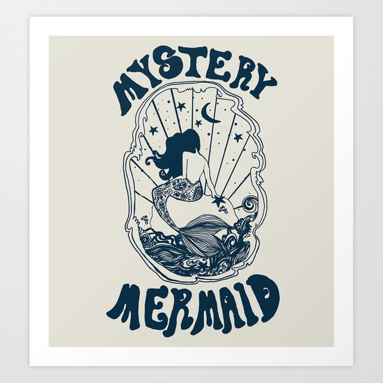 MYSTERY MERMAID Art Print