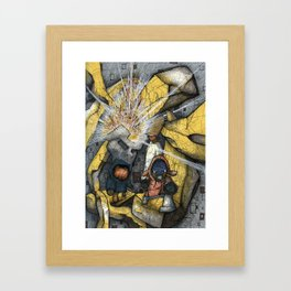 Happiness Will Blow Your Mind : fear creates only a man Framed Art Print