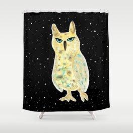Intergalactic owl Shower Curtain