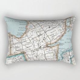 Map of Simcoe County, Ontario, Canada Rectangular Pillow