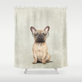 Mr French Bulldog Shower Curtain