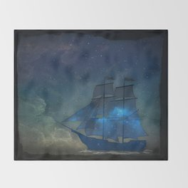 Ships and Stars Throw Blanket