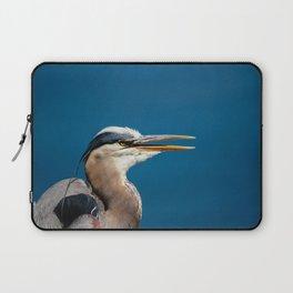 Great blue heron portrait Laptop Sleeve