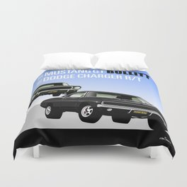 Ford Mustang and Dodge Charger from Bullitt Duvet Cover