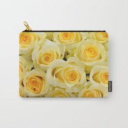 soft yellow roses close up Carry-All Pouch