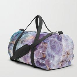 Quartz Stone - Blue and Purple Duffle Bag