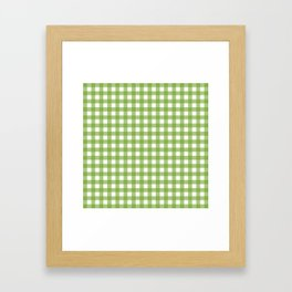 Green plaid Framed Art Print