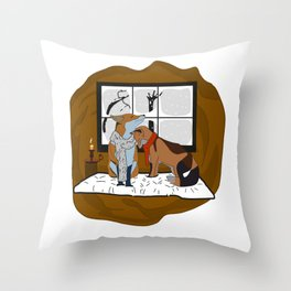 Shoulder to cry on Throw Pillow