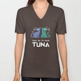 Take Us to Your Tuna Unisex V-Neck