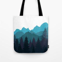 Blue Woods Tote Bag