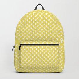 Tiny Paw Prints Lemon Yellow Pattern Backpack