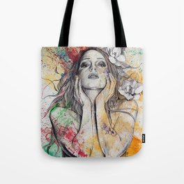 The Withering Spring (nude flower girl with magnolias) Tote Bag