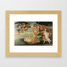 The Birth of Venus - Nascita di Venere by Sandro Botticelli Framed Art Print