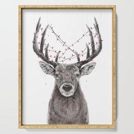 Xmas deer Serving Tray