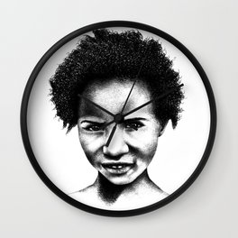 Afeni Girl Wall Clock