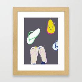 Flip flops Framed Art Print