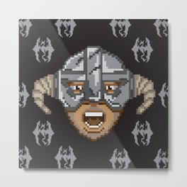 Skyrim Pixel art/ Pattern Edition Metal Print