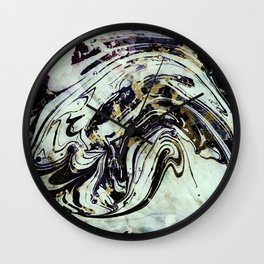 Marble black gold Wall Clock