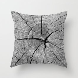 Weathered Old Wood Texture Throw Pillow