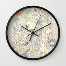 decay, cream & color  Wall Clock