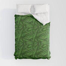 Hand drawn cucumber pattern Comforters