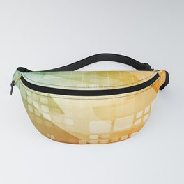 Digital Marketing Technology Abstract Background Art Concept Fanny Pack