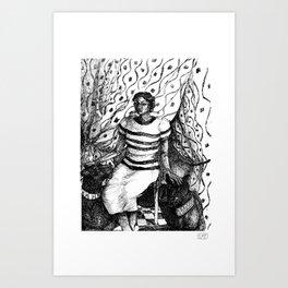 Panther Lady Art Print