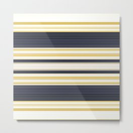 Nautical Stripes Pattern Metal Print