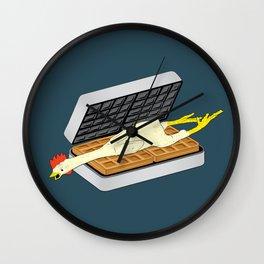 Rubber Chicken & Waffles Wall Clock