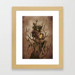 Shaman #1: Firefly Framed Art Print