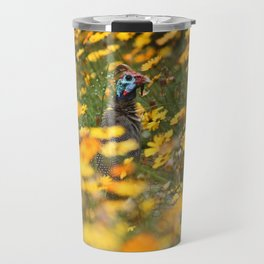 southafrica ... flowers, flowers and a guineafowl Travel Mug