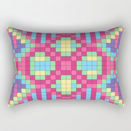 Checkerboard Squares Abstract Rectangular Pillow