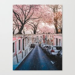 The Pink Side of the Street by GEN Z Canvas Print