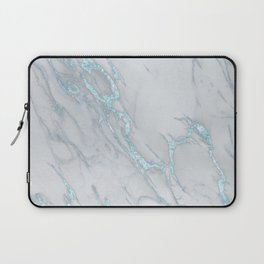 Marble Love Electric Blue Metallic Laptop Sleeve