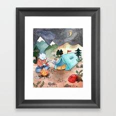 Greetings from Camp! Framed Art Print