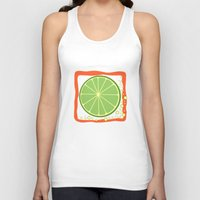 lime Tank Tops featuring LIME by Tanya Pligina