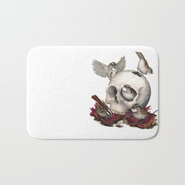 White-throated Sparrows Forage Amongst Human Remains Bath Mat