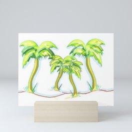 Four Palms Drawing Mini Art Print