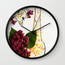 Lilac Giraffe Wall Clock